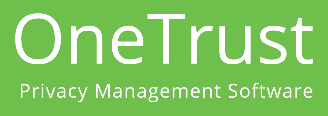 OneTrust Logo, green background with white text.